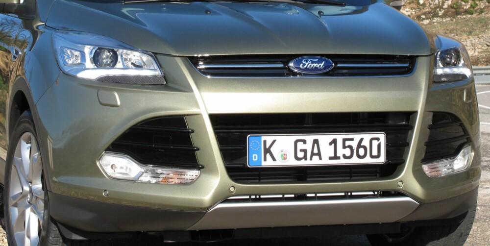 FORHJULSDRIFT: Senere kommer Ford Kuga med forhjulsdrift i kombinasjon med 1,6-diesel på 115 hk. Det er interessant sett med norske øyne. FOTO: Petter Handeland