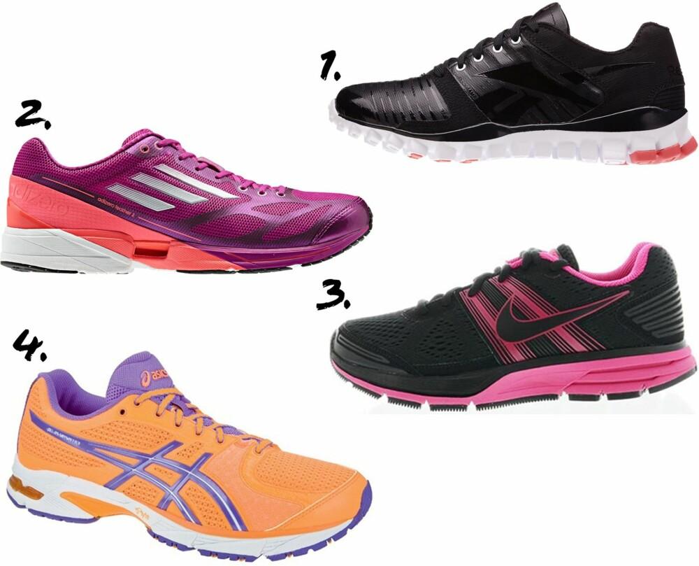 ASFALTSKO: Enten du velger sorte eller fargesprakende sko, god demping er alfa omega når du skal gå til innkjøp av nye løpesko.