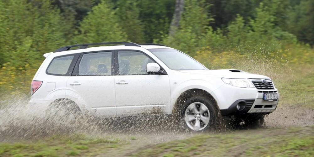 LITT SUV: Subaru Forester har mange SUV-gener, og firehjulsdrift, men du slipper det høye tyngdepunktet.
