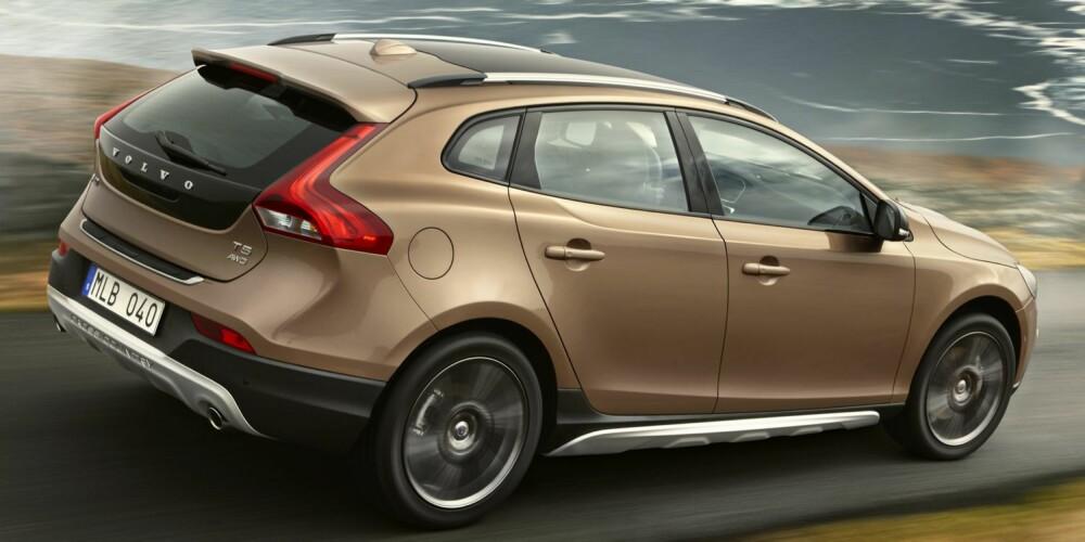 GJERRIG: Med 1,6-litersdieselen (115 hk), vil V40 Cross Country ha et oppgitt forbruk på kun 0,38 l/mil. Foto: Volvo