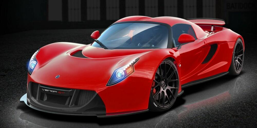 OPPFØLGER: Venom GT2 med 1500 hk. FOTO: Hennessey Performance