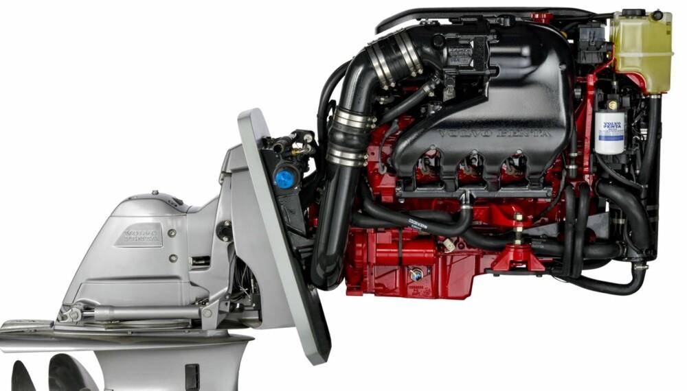 GUNSTIG: Ser man på innkjøpsprisen på en moderne turbodieselmotor i effektklassen 350 ¿ 400 hk og sammenligner det med en bensinmotor, er dieselalternativet en svært kostbar affære. FOTO: Volvo Penta