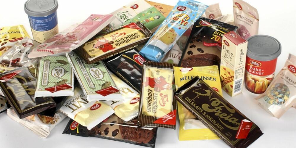"""I POSTEN: Alt dette er på vei til """"""""Nure"""""""" med posten. Den heldige vinneren av Klikks sjokoladekakekonkurranse."""