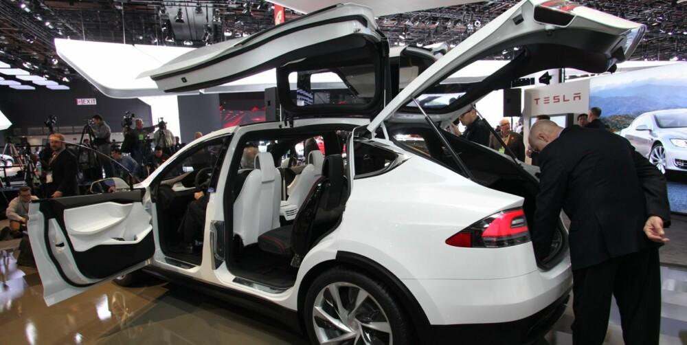 ELSUV: Tesla Model X er klar i 2015. FOTO: Newspress
