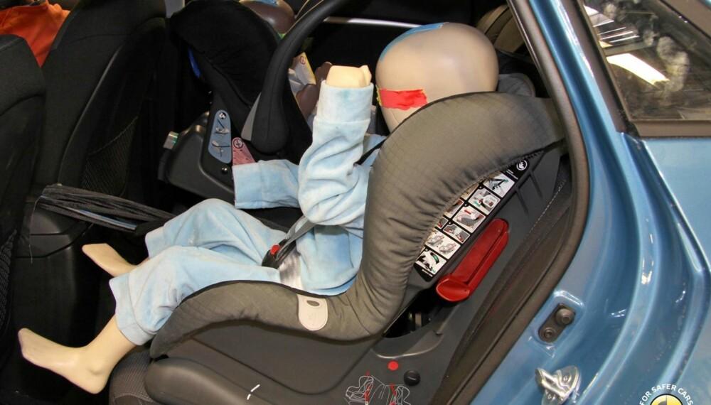 SIKKERHET: Når det gjelder sikkerhet for barn scorer Hyundai i30 svært godt i EuroNCAPs kollisjonstest. Foto: EuroNCAP