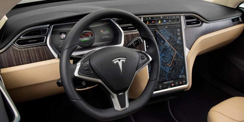 TÅLEGRENSE: Hvor langt kan man kjøre med en Model S en kald vinterdag med varmeapparatet på full guffe? Det er spørsmålet. FOTO: Tesla Motors