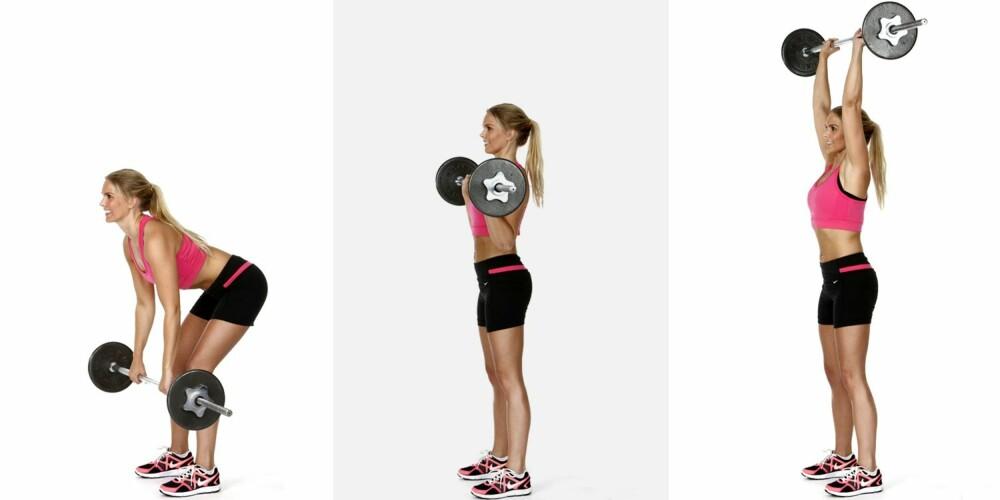 MARKLØFT: Med rett rygg og litt bøy i knærne, løft vektstangen opp fra bakken.