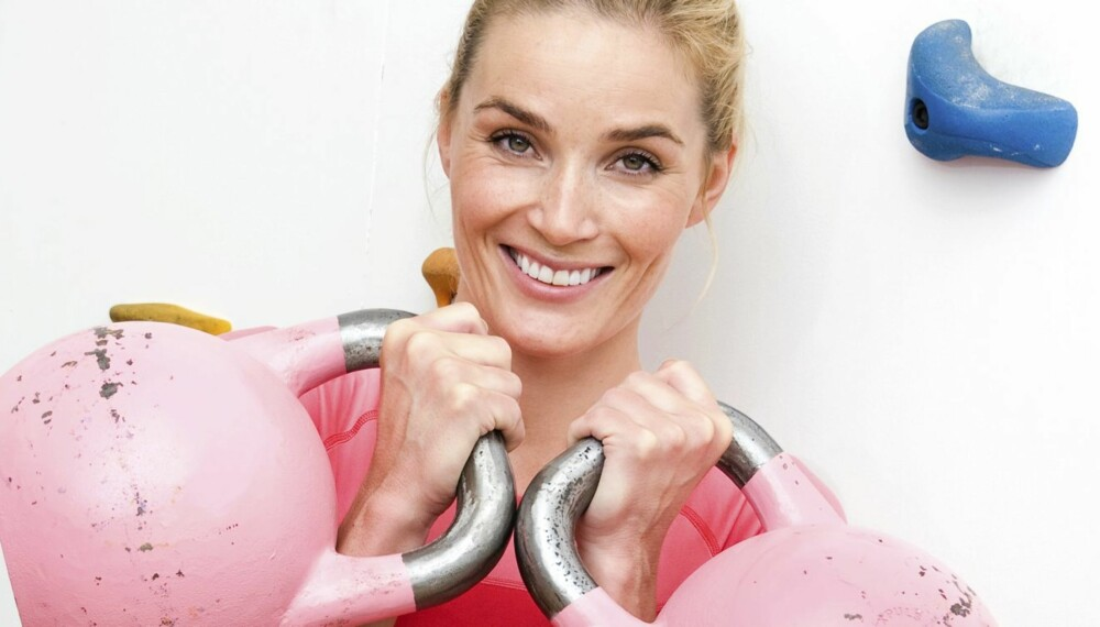 KETTLEBELLS: Trening jeg tidligere brukte to timer på, gjør jeg nå unna på tre kvarter, forteller blogger og modell, Camilla Pihl (33).