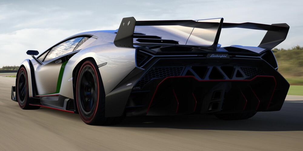 TYDELIG: Ingen beskjedne dimensjoner her. FOTO: Lamborghini