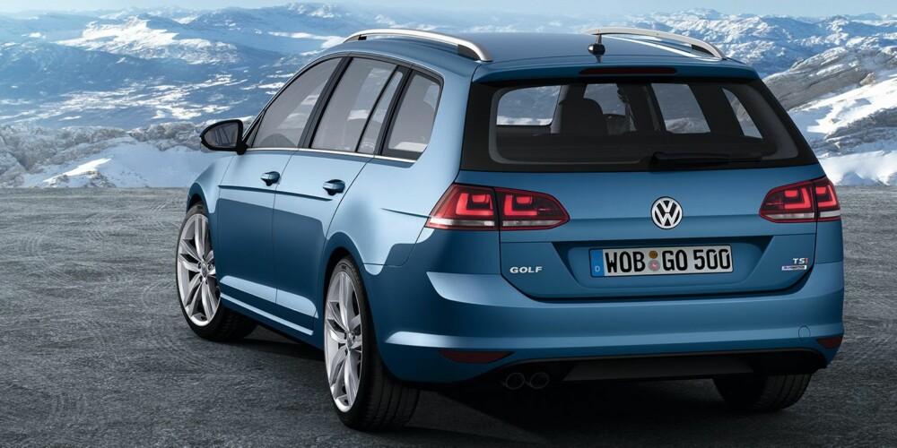 MER PLASS: Nye VW Golf stasjonsvogn har fått langt mer plass i bagassjerommet. FOTO: VW