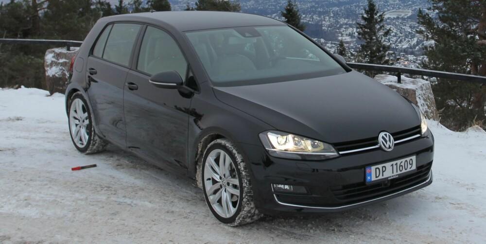 LIK: Den nye VW Golf er seg selv lik, med kompakt grunnriss og stramme, moderne linjer. FOTO: Terje Bjørnsen