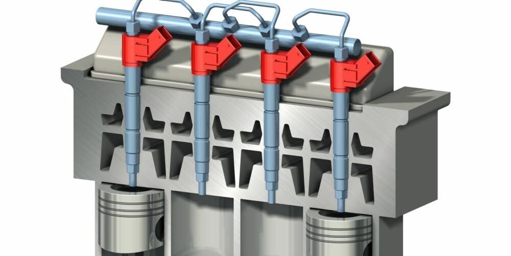 SMART LØSNING: En tegning som denne illustrerer hvordan systemet virker. De elektroniske enhetene er farget røde.