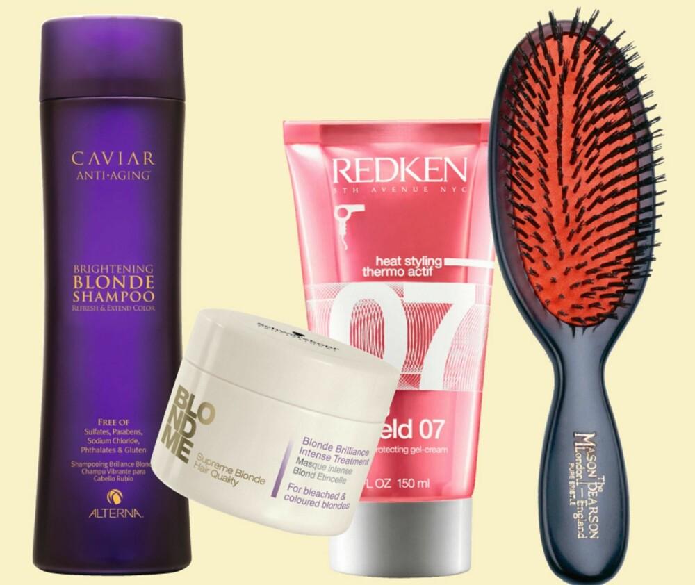 PRODUKTER FOR LYST HÅR tar ekstra godt vare på de lyse tuppene. Spesielt hvis håret er kjemisk bleket...