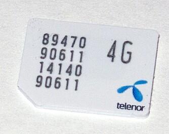 """SIM-KORT: Husk at du må ha et støttet SIM-kort for å få brukt 4G. SIM-kortet skal klart og tydelig være merket med """"4G""""."""