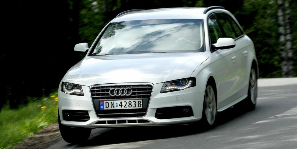 DER BESTE: Audi A4 er den beste bilen uansett klasse, ifølge det tyske kontrollorganet Dekra. FOTO: Egil Nordlien, HM Foto