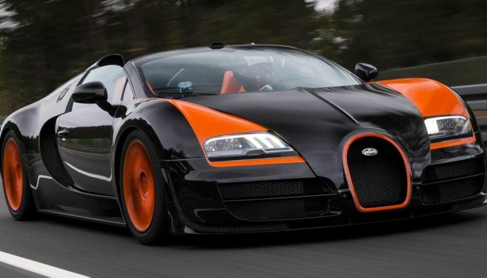 408,84 KM/T: Bugatti Veyron 16.4 Grand Sport Vitesse er verdens raskeste bil med åpent tak. FOTO: Bugatti