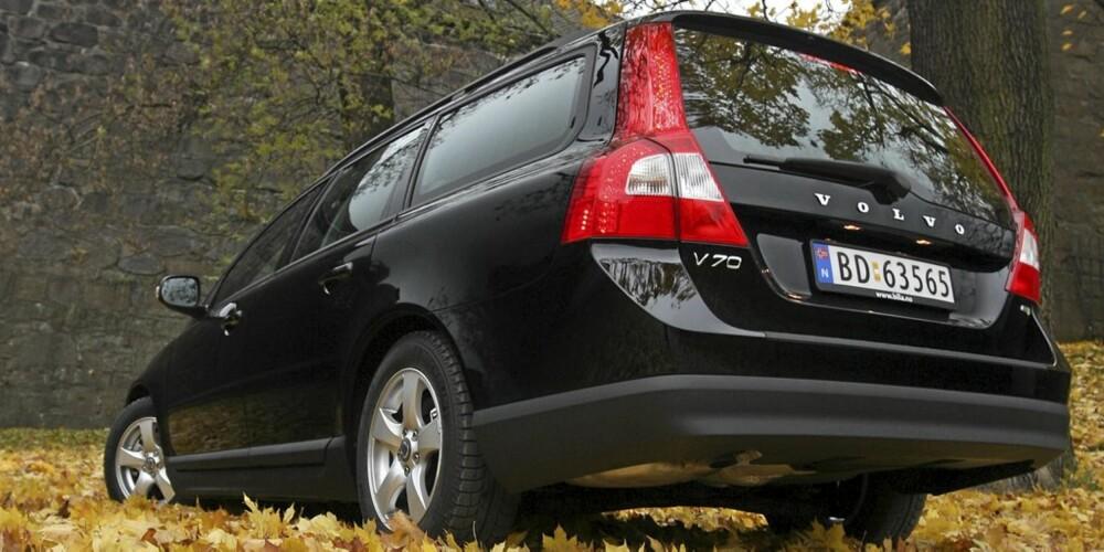 SVENSK SIKKERHET: Volvo V70 med 1,6-liters motor er en svært populær bil i Norge. FOTO: Egil Nordlien, HM Foto