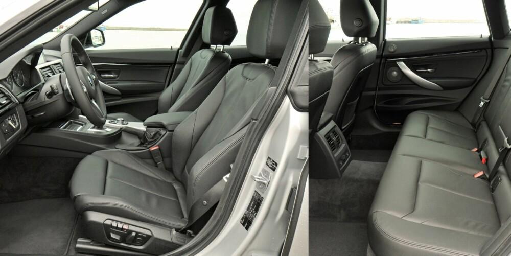 PASSASJERVENNLIG: Plassen i baksetet er svært god, benplass inkludert. Fra førersetet vil BMW-kjenneren kjenne seg godt igjen. FOTO: BMW