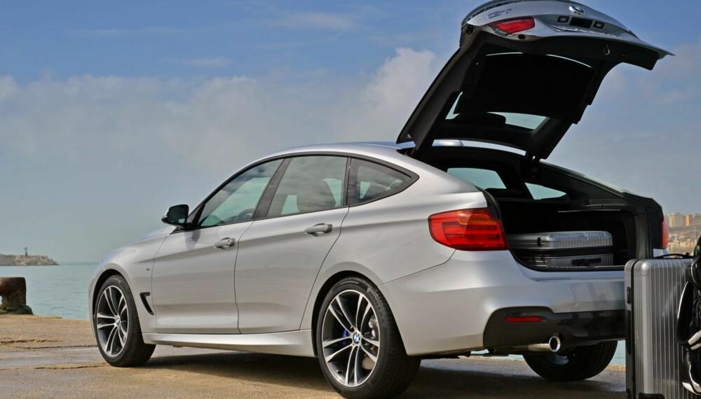 SLUK: BMW 3-serie GT har en hvalkjeft av ei bakluke, og godt med bagasjeplass. FOTO: BMW / Alberto Martinez
