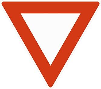VIKEPLIKT: Der det er skiltet vikeplikt skal man ikke hindre eller forstyrre den det skal vikes for.