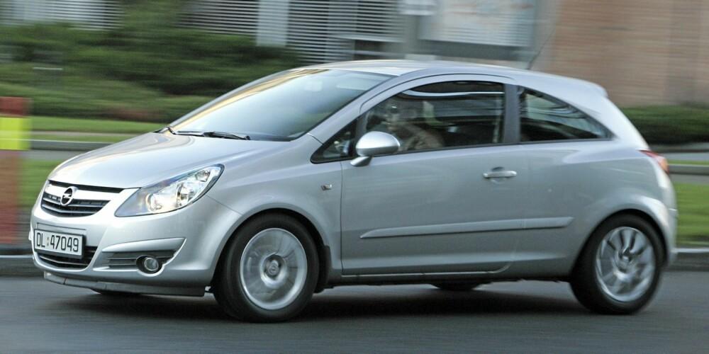 OPEL: Corsa-generasjonen som ble lansert sommeren 2006, har svært få feil. Sjekk understell på biler som har gått langt.