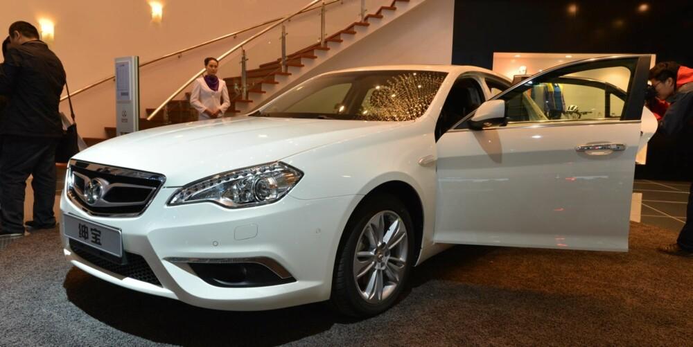 CHINA IN YOUR HAND: Shenbao er navnet på Kina-Saab-en som skal markedsføres som Senova i vestlige land. FOTO: Newspress