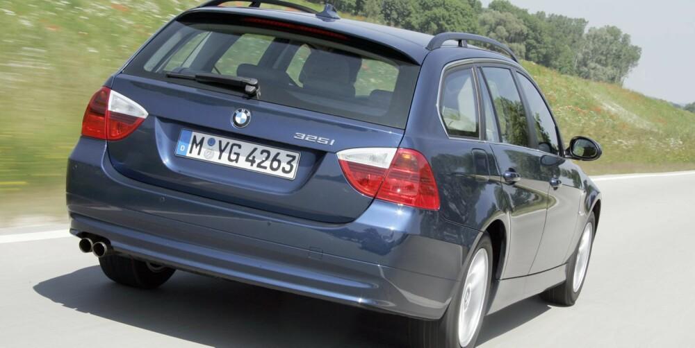 3-SERIE: Sjekk styringen hvis bilen har veldig brede dekk. FOTO: BMW