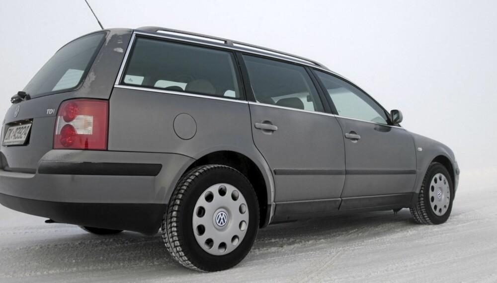 FAMILIEBIL: VW Passat stasjonsvogn med 1,9-liters turbodiesel på 100 hk er et av de mest attraktive bruktbilkjøpene for familien.
