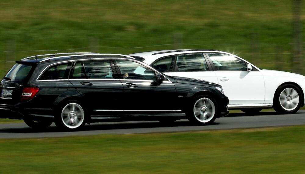 FAVORITTER: Mercedes C-klasse og Audi A4 er blant de mest populære bilene på FINN. De regnes også som svært gode bruktbilkjøp. FOTO: Egil Nordlien, HM Foto