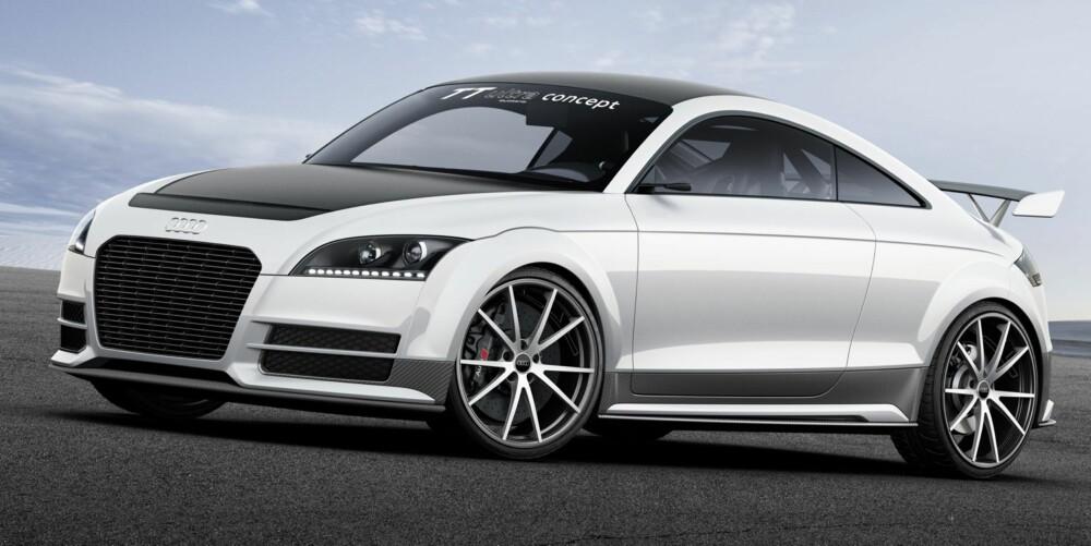 TT: Konseptet er en videreutviklet og kraftig slanket versjon av den todørs sportsbilen Audi TT. FOTO: Audi