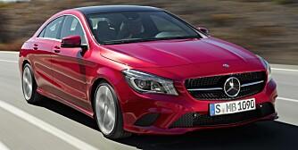 MARS: Mercedes CLA kommer til Norge i mars. Bilder viser CLA 220 CDI. FOTO: Daimler AG