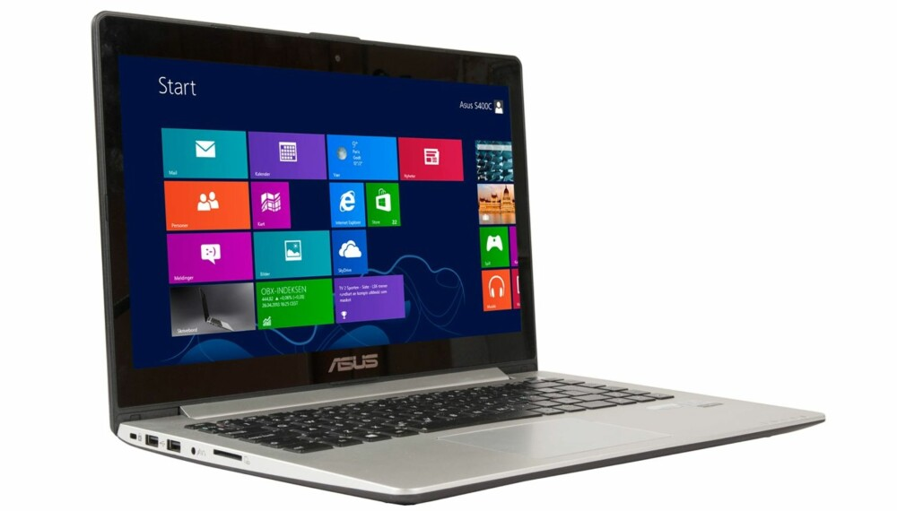 STILIG: Designet på den dyrere Zenbook-serien har nok vært forbildet for VivoBook. Selv om de ligner har denne flater i en blanding av metall og plast. Det fungerer likevel godt, særlig når man tar prisen med i betraktningen.