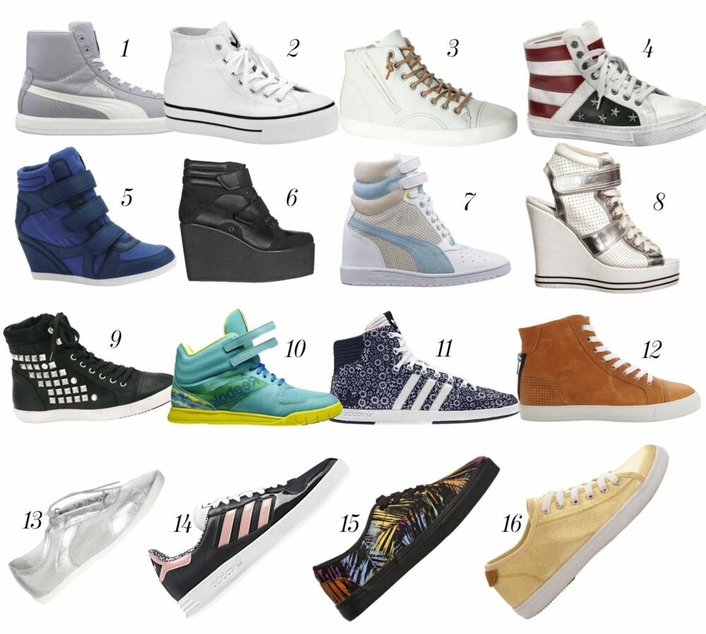 SNEAKERS: Fine sneakers er en hverdagshelt, og kan fint kombineres med kjole, bukse og skjørt.