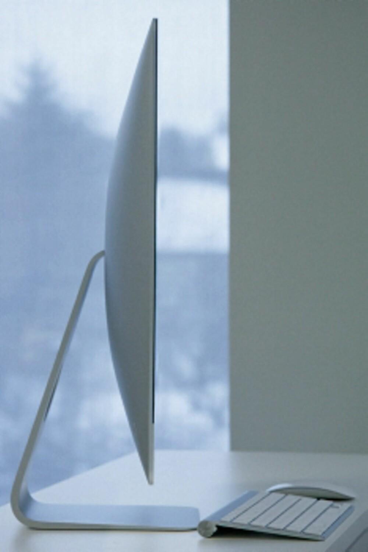 Buler: iMac er ikke like tynn i virkeligheten, siden den buler ut på midten bak.