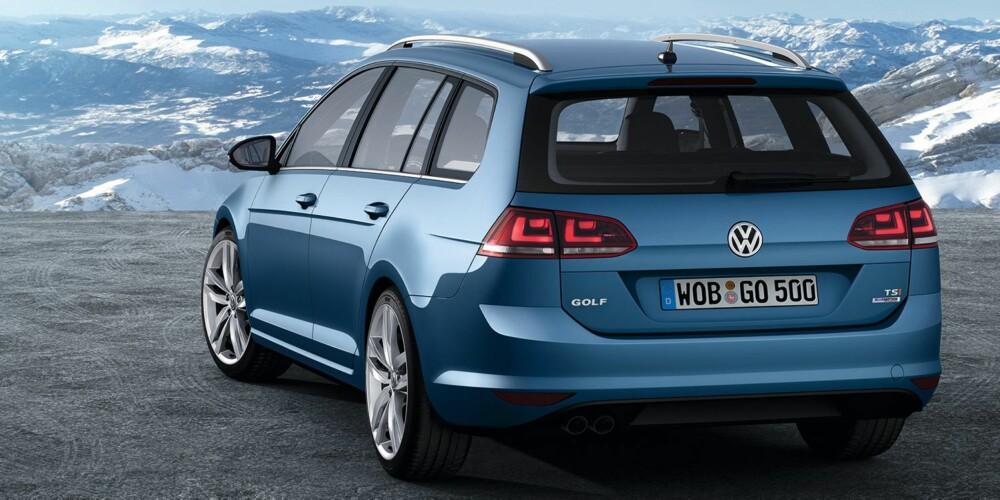 TIL HØSTEN: Nye VW Golf stasjonsvogn har 100 liter større bagasjerom enn dagens versjon. FOTO: Volkswagen