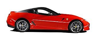EURO: Ferrari 599 GTO, klassisk europeisk skjønnhet. FOTO: Ferrari