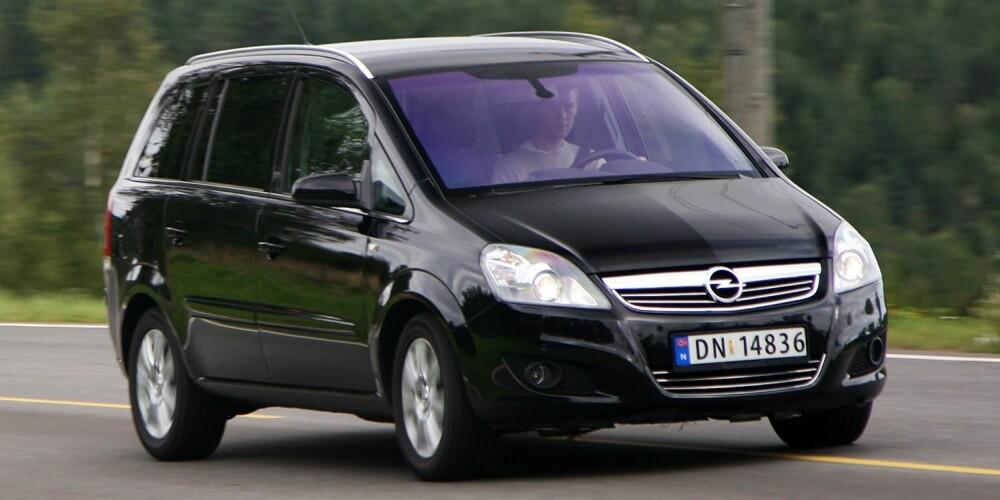FLEKSIBEL: Opel Zafira. FOTO: Hm Arkiv
