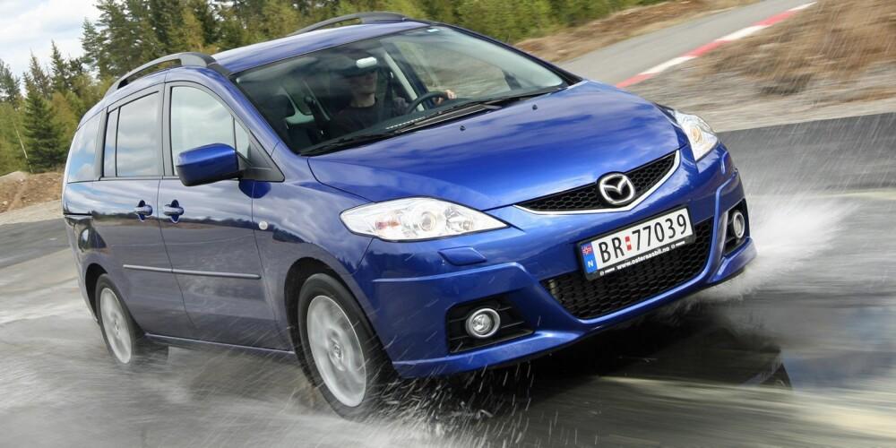 SKYVEDØRER: Mazda5. FOTO: HM Arkiv