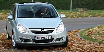 GODT UTVALG: Opel Corsa. FOTO: Egil Nordlien, HM Foto
