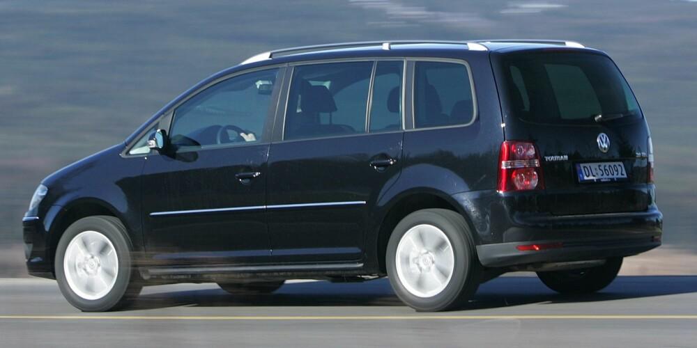 SUPER FAMILIEBIL: VW Touran. FOTO: Egil Nordlien, HM Foto