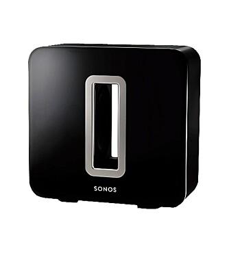 SONOS SUB: Sonos Playbar kan bygges ut med en Sonos Sub og Sonos Play:3 som ekstra satellitter.