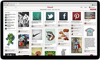 MIN FORSIDE: Slik ser forsiden til Pinterest ut. Bildene er et utvalg fra venners bilder og temaer på abonnerer på.