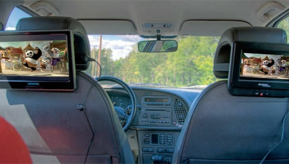 DVD I BIL: Har du en DVD-spiller har den trolig en USB-inngang. Da kan du ripppe hele DVD-samlingen din og legge den på en minnepinne som du bruker i bilen når du eller barna skal se film.