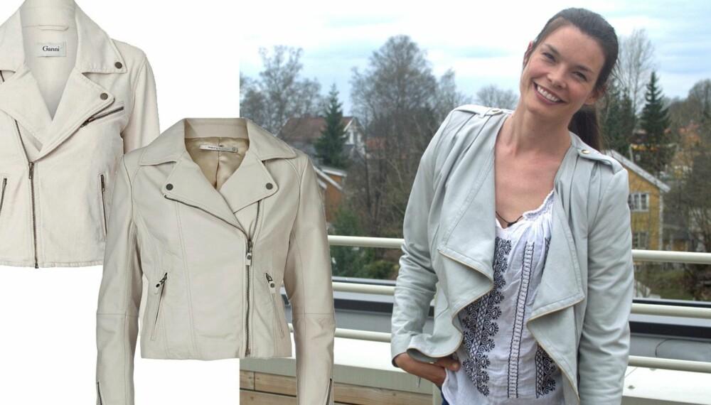 a5753d1c Enten du går for ekte skinn eller et imitert materiale er den lyse  bikerinspirerte jakken sommerens must!