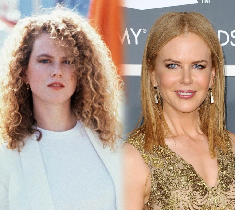 NICOLE KIDMAN: Fra skummetmelkfarget hud og jordbærblonde krusekrøller til pinnerett honningblondt hår og gylden hud. Jada, Nicole Kidman har gjennomgått litt av en forvandling siden hun ble kjent på slutten av 80-tallet.