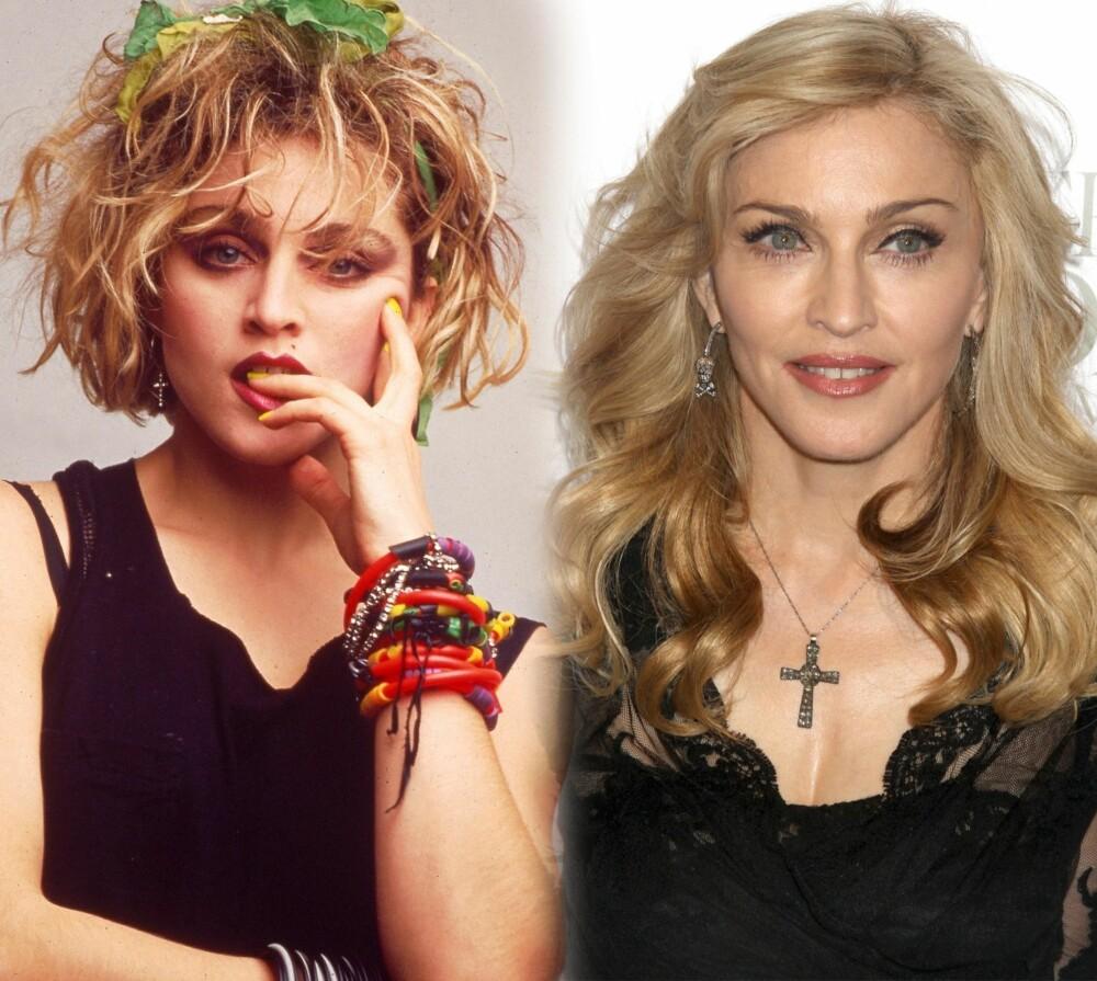 MADONNA: 80-talls-Madonna er sminket og stylet opp og i mente, men ser likevel mer naturlig ut enn Madonna anno 2013.