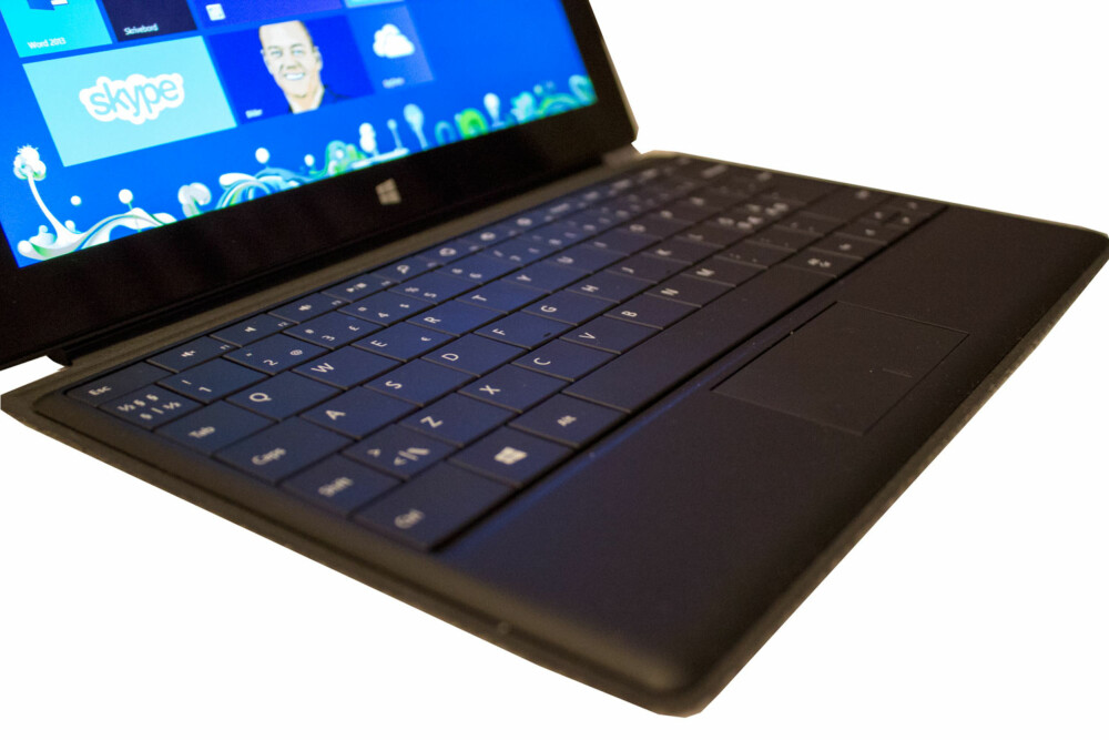 TYNNE TASTER: Type-tastaturet er tynt, men fungerer faktisk til å skrive på.