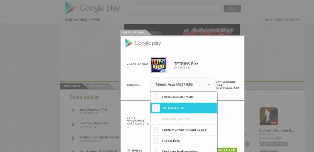 INSTALLER FRA NETT: Bruk nettleseren på PC-en til å finne og installere programmer til din Android-mobil.