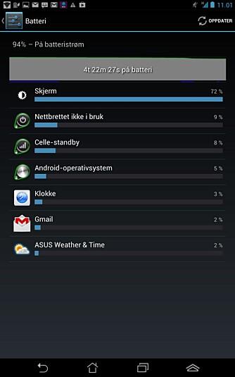 BATTERI: Hvilke programmer og tjenester bruker opp batteriet ditt. Her får du svaret.
