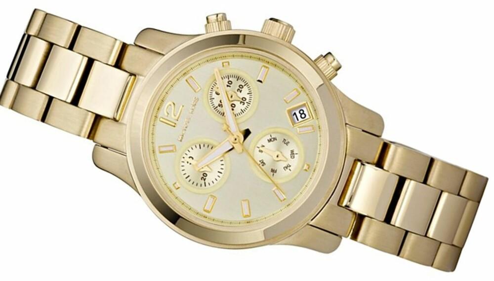 133ab9cc KLOKKEN ALLE SIKLER PÅ: Denne klokken fra Michael Kors, modell MK5384, har  blitt